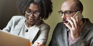 Conceito de Team Partner Business Discussion Communication imagens de stock