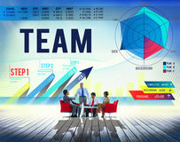 Conceito de Team Teamwork Corporate Partnership Cooperation imagem de stock royalty free