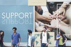 Conceito de Team Teamwork Help Share Contribute imagens de stock royalty free