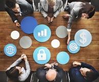 Conceito de Team Teamwork Meeting Working Accounting do negócio foto de stock royalty free