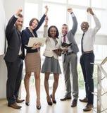 Conceito de Team Working Research Planning Success do negócio fotos de stock