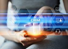 Conceito de Techology do Internet do negócio do gerenciamento de relacionamento com o cliente de CRM Fotografia de Stock