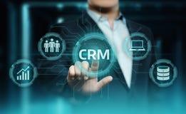 Conceito de Techology do Internet do negócio do gerenciamento de relacionamento com o cliente de CRM fotos de stock