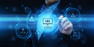 Conceito de Techology do Internet do negócio do gerenciamento de relacionamento com o cliente de CRM imagem de stock