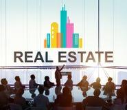 Conceito de trabalho da propriedade de Real Estate fotografia de stock