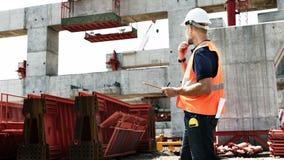 Conceito de trabalho de Construction Site Planning do arquiteto foto de stock royalty free