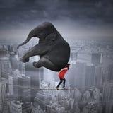 Conceito de trabalho do risco elevado Fotografia de Stock Royalty Free