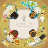 Conceito de trabalhos de equipa criativos ilustração do vetor