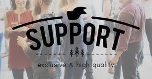 Conceito de treinamento da comunidade do auxílio do conselho do apoio Imagem de Stock