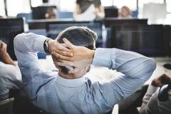 Conceito de troca de Stress Investment Stock do homem de negócios imagem de stock