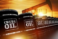 Conceito de troca do óleo bruto Imagem de Stock