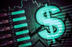 Conceito de troca do dólar dos estrangeiros Imagem de Stock Royalty Free