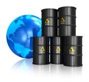 Conceito de troca do petróleo Fotografia de Stock Royalty Free