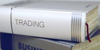 Conceito de troca no título do livro 3d Imagem de Stock Royalty Free