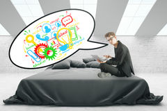 Conceito de uma comunicação Foto de Stock Royalty Free