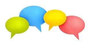 Conceito de uma comunicação da bolha do discurso Fotografia de Stock Royalty Free