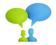 Conceito de uma comunicação da bolha do discurso Imagem de Stock