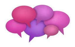 Conceito de uma comunicação da bolha do discurso Imagens de Stock