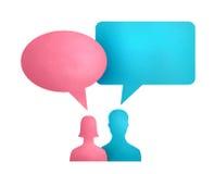 Conceito de uma comunicação da bolha do discurso Fotos de Stock