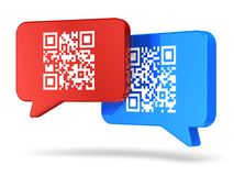 Conceito de uma comunicação do código de QR Fotos de Stock Royalty Free