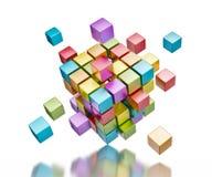 Conceito de uma comunicação do Internet dos trabalhos de equipa do negócio Imagens de Stock