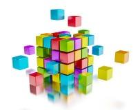 Conceito de uma comunicação do Internet dos trabalhos de equipa do negócio Imagem de Stock