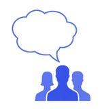Conceito de uma comunicação dos trabalhos de equipa Imagem de Stock Royalty Free