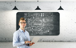 Conceito de uma comunicação e da tecnologia Fotografia de Stock