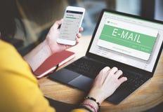 Conceito de uma comunicação eletrônica de Digitas da mensagem de correio eletrónico foto de stock royalty free