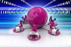 Conceito de uma comunicação empresarial global Foto de Stock