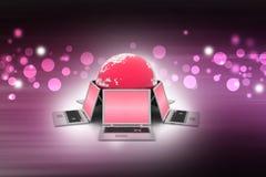 Conceito de uma comunicação empresarial global Imagens de Stock