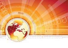 Conceito de uma comunicação global ilustração stock