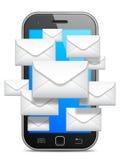 Conceito de uma comunicação móvel Imagens de Stock