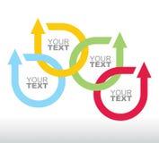 Conceito de uma comunicação com setas Imagem de Stock Royalty Free
