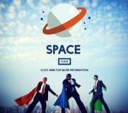 Conceito de Universe Galaxy Outer do astronauta do espaço imagens de stock