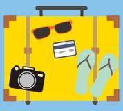 Conceito de viagem das férias Projeto liso Foto de Stock Royalty Free
