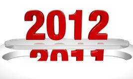 Conceito de vinda do ano novo 2012 ilustração royalty free