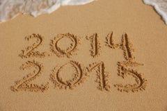 Conceito de vinda do ano novo 2015 Foto de Stock