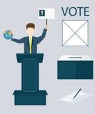 Conceito de votação Ilustração Stock