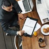 Conceito de Working Leadership Strategy do homem de negócios imagem de stock royalty free