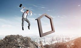 Conceito deixando de funcionar do mercado imobiliário Imagem de Stock Royalty Free