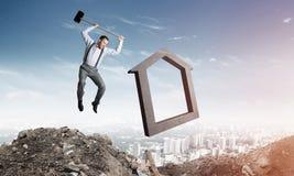 Conceito deixando de funcionar do mercado imobiliário Imagens de Stock Royalty Free