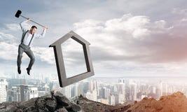 Conceito deixando de funcionar do mercado imobiliário Imagem de Stock