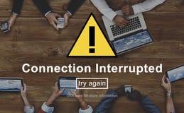 Conceito desligado interrompido conexão da observação foto de stock royalty free