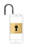 Conceito destravado do smartphone Foto de Stock
