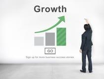 Conceito dianteiro do processo do negócio da melhoria do crescimento Imagens de Stock Royalty Free