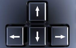 Conceito diferente do teclado do sentido ilustração stock