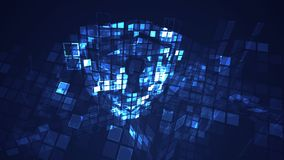 Conceito digital abstrato da segurança da proteção do protetor do cyber ilustração stock