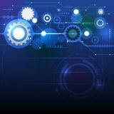 Conceito digital futuro abstrato da tecnologia da ciência ilustração do vetor
