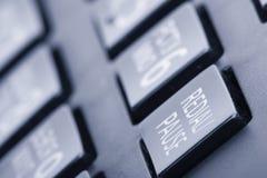 Conceito discado do teclado numérico do telefone para uma comunicação, o contato nós e a imagem tonificada do apoio de serviço ao imagem de stock royalty free